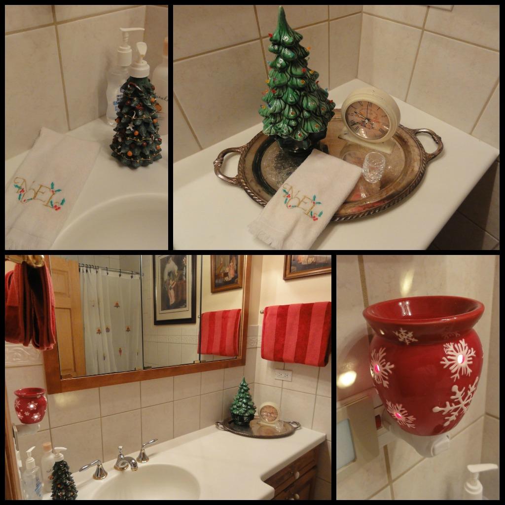4 days of christmas 2011 the holiday bathroom got my for Bathroom decor christmas